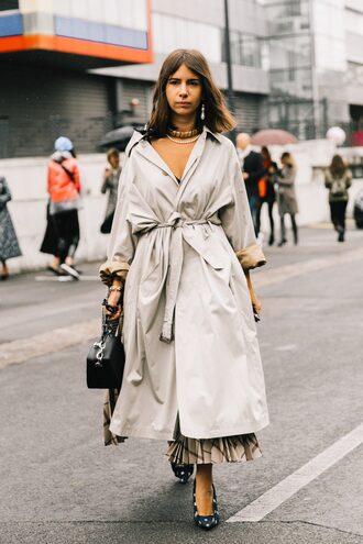 coat tumblr trench coat grey coat oversized oversized coat streetstyle shoes balenciaga bag
