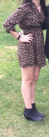 romper,leopard print