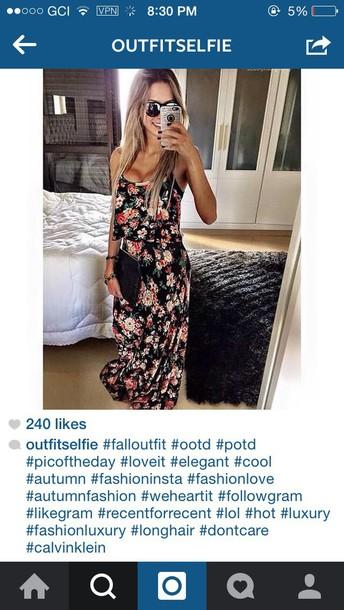 dress floral maxi dress