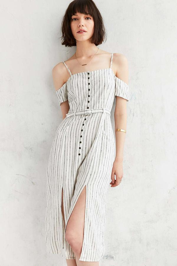 dress summer dress striped dress off the shoulder dress