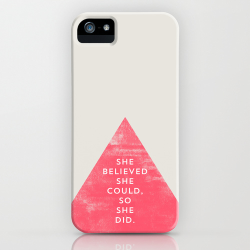 SHE BELIEVED SHE COULD SO SHE DID - TRIANGLE iPhone & iPod Case by Allyson Johnson | Society6