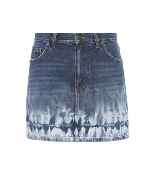 Saint Laurent miniskirt denim blue skirt