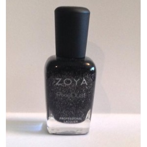 Zoya Dahlia Black / Grey Sparkle Nail Polish 0.5 fl.oz Pixiedust ZP656 - Loria Beauty