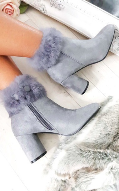 shoes ankle boots grey i need this help