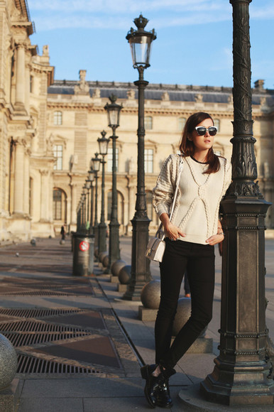 style scrapbook blogger bag sunglasses jeans