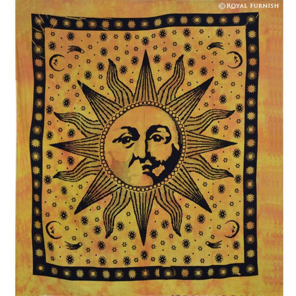 home accessory tapestry wall hanging hippie boho sunshine hat