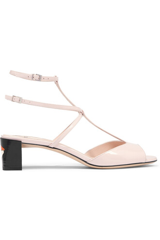 sandals leather sandals leather pastel pink pastel pink neutral shoes