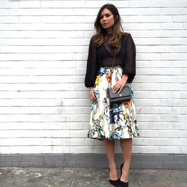 Black And White Midi Skirt - Shop for Black And White Midi Skirt ...