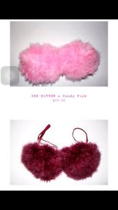 top,furry bra