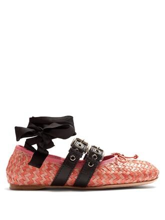 ballet flats ballet flats leather pink shoes