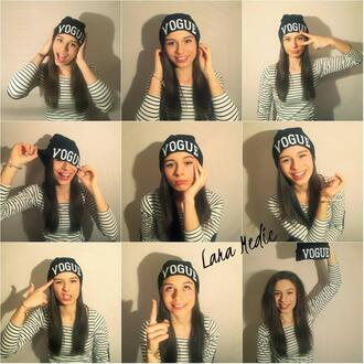 hat vogue fashion girl stripes shirt clothes brand