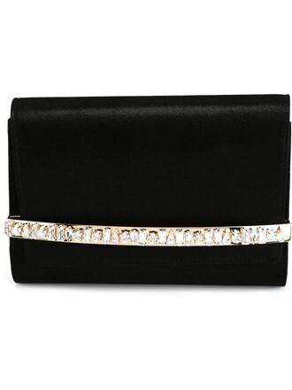 bow embellished clutch black bag