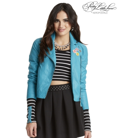 Pretty Little Liars Aria Faux Leather Jacket -