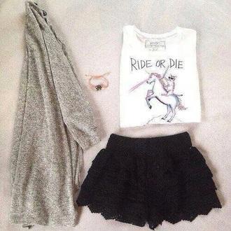 cardigan sweater shorts shirt skirt