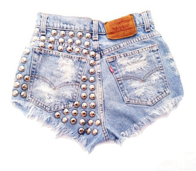 Wanderlust 320 Studded Shorts - Arad Denim