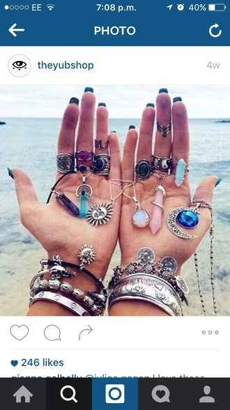 jewels ring galaxy print gem purple necklace hippie knuckle ring gemstone ring gem stones dreamcatcher necklace hippie chic quartz rings and tings silver ring boho boho chic boho jewelry bohemian crystal quartz