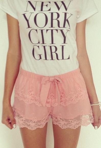 cute lace kawaii pink