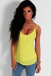 top,chartreuse,lime,green,crossover,swing top,swing vest