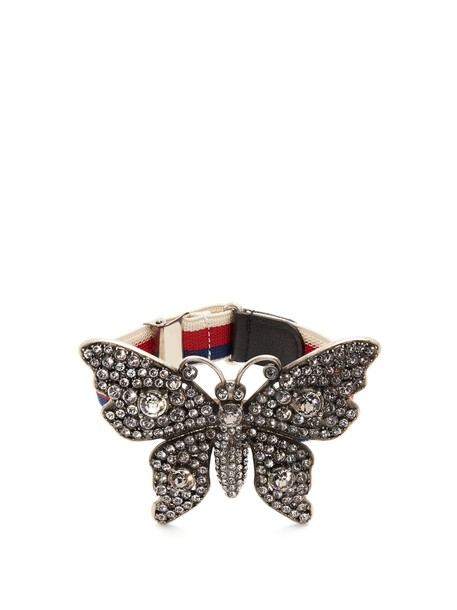 gucci butterfly embellished jewels