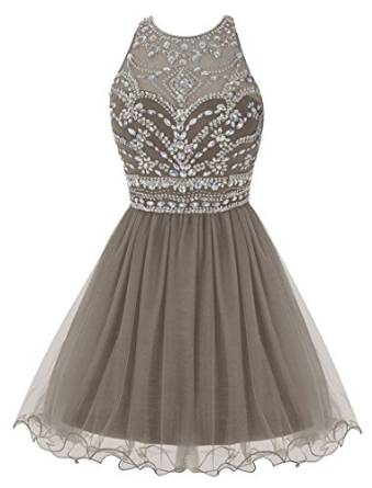 Amazon.com: Fashionbride Women's Short Homecoming Dresses 2016 Mini Prom Gowns With Crystals F256: Clothing