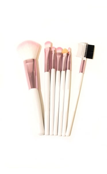 Rose Pink 7 Piece Brush Set - from The Fashion Bible UK