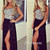 Amazing black chiffon long prom dresses, evening dresses - 24prom