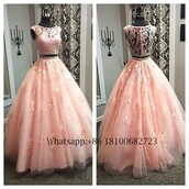 dress,beautyu,two piece prom dresses,lace prom dresses,plus size prom dress,custom made  prom dress,arabic prom gowns,2017 prom dress,long blush pink prom dress,tulle prom gown,vintage prom dress,dresses evening,formal evening dresses long length,quinceanera dress,ball gown prom dresses
