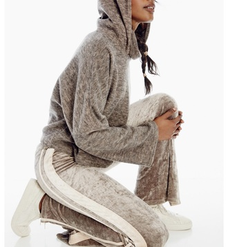 pants free people velvet sweatpants sweats neutral casual