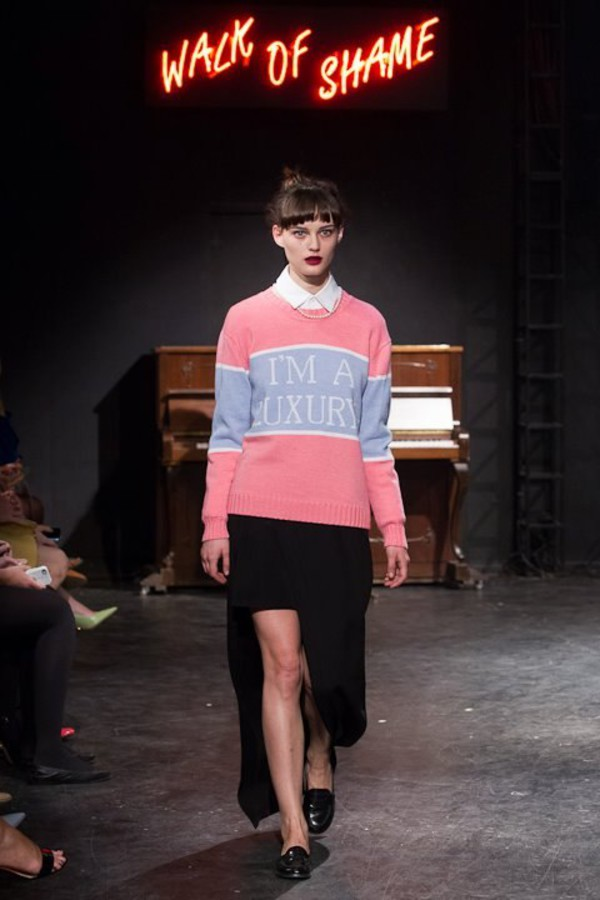 walkofshame sweater luxury fashion cool clothes pink sweater pink blue