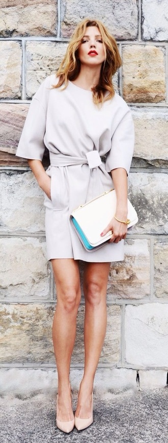 bag stylish white grey nude cool purse clutch dress