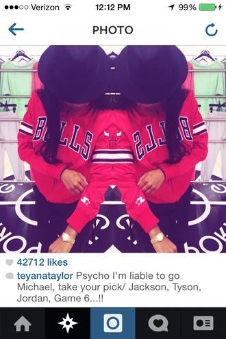 jacket chicago bulls red jacket teyana taylor