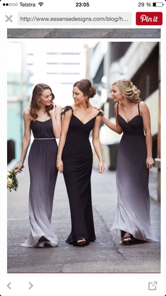 dress long ombre black fade  maxi dress homecoming dress bridemade dress straps