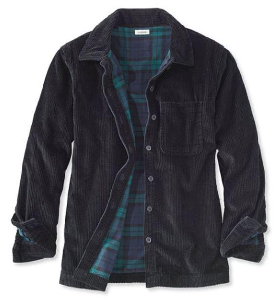jacket shirt corduroy ll bean l.l. bean
