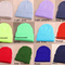 Solid color unisex men women warm cuff plain knit ski long beanie skull cap hat | ebay