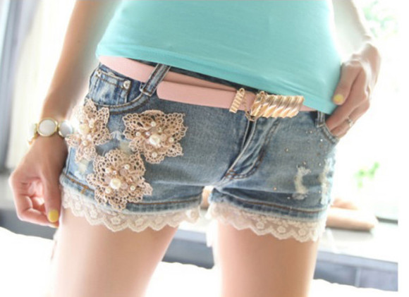 pants shorts lace