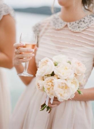 dress collared dress peter pan collar white dress bridesmaid