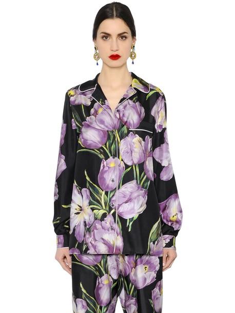 Dolce & Gabbana shirt silk black pink top