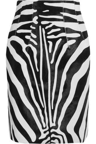 skirt zebra hair print zebra print