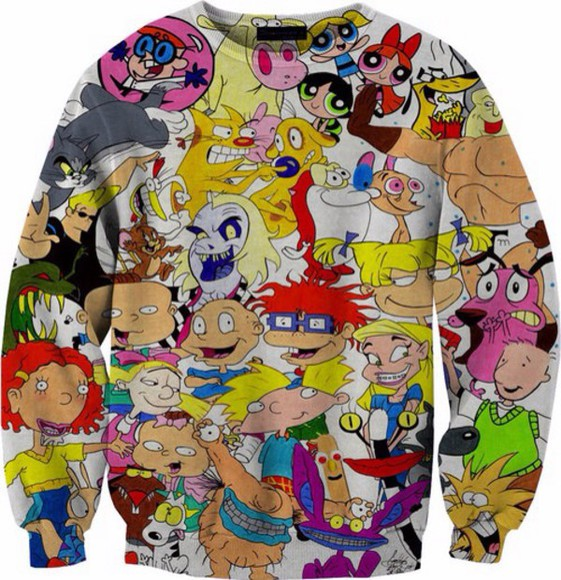 sweater cute hey arnold tv 90s winter outfits cold white sweet tv shoe cartoon network cartoon