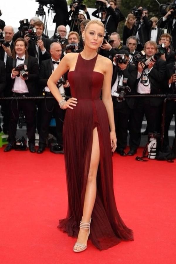 Dress Cannes 2014 Maxi Dress Slit Dress Blake Lively