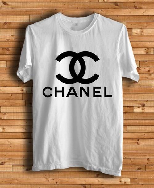 t-shirt chanel white chanel t-shirt shirt glenn coco