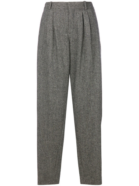 Chloe women spandex silk wool grey pants