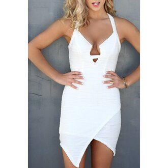 dress white fashion tan trendy hot summer rose wholesale-ma girl girly girly wishlist white dress bodycon bodycon dress halter dress asymmetrical party dress sexy party dresses sexy sexy dress party outfits summer dress summer outfits cute cute dress mini dress girly dress date outfit birthday dress birthday summer holidays romantic summer dress romantic dress clubwear club dress