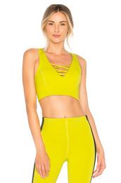 bra,sports bra,yellow,underwear