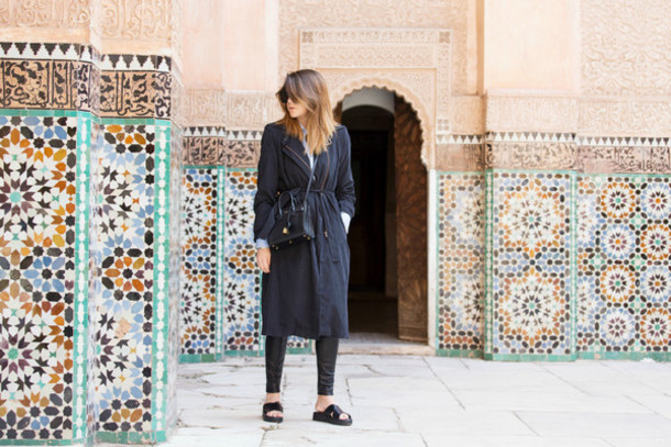 scent of obsession blogger charcoal birkenstocks coat pants shoes bag jewels sunglasses