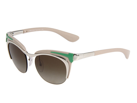 Prada 0PR 61OS Silver Green/Brown/Brown Gradient - Zappos Couture