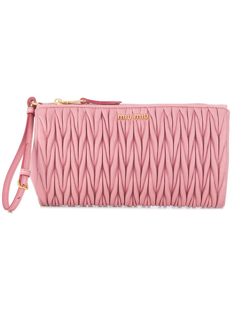 Miu Miu women bag clutch leather purple pink