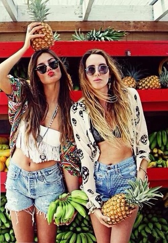 shorts tank top blouse underwear festival clothes jacket jewels t-shirt swimwear sunglasses coat pants sweater cardigan denim shorts jeans colorful summer summer outfits crop tops kimono aztec colorful top summer summer top summer dress nice nice outfit cute outfits cute girly outfits tumblr girl girly bff