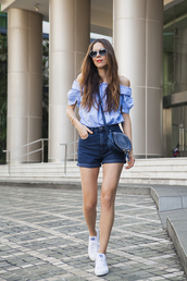 irene closet,blogger,top,shoes,shorts