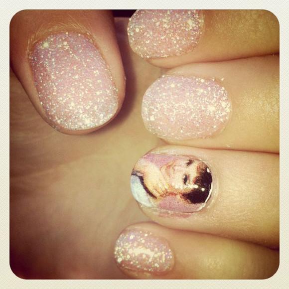 audrey hepburn nail polish pink gorgeous decal